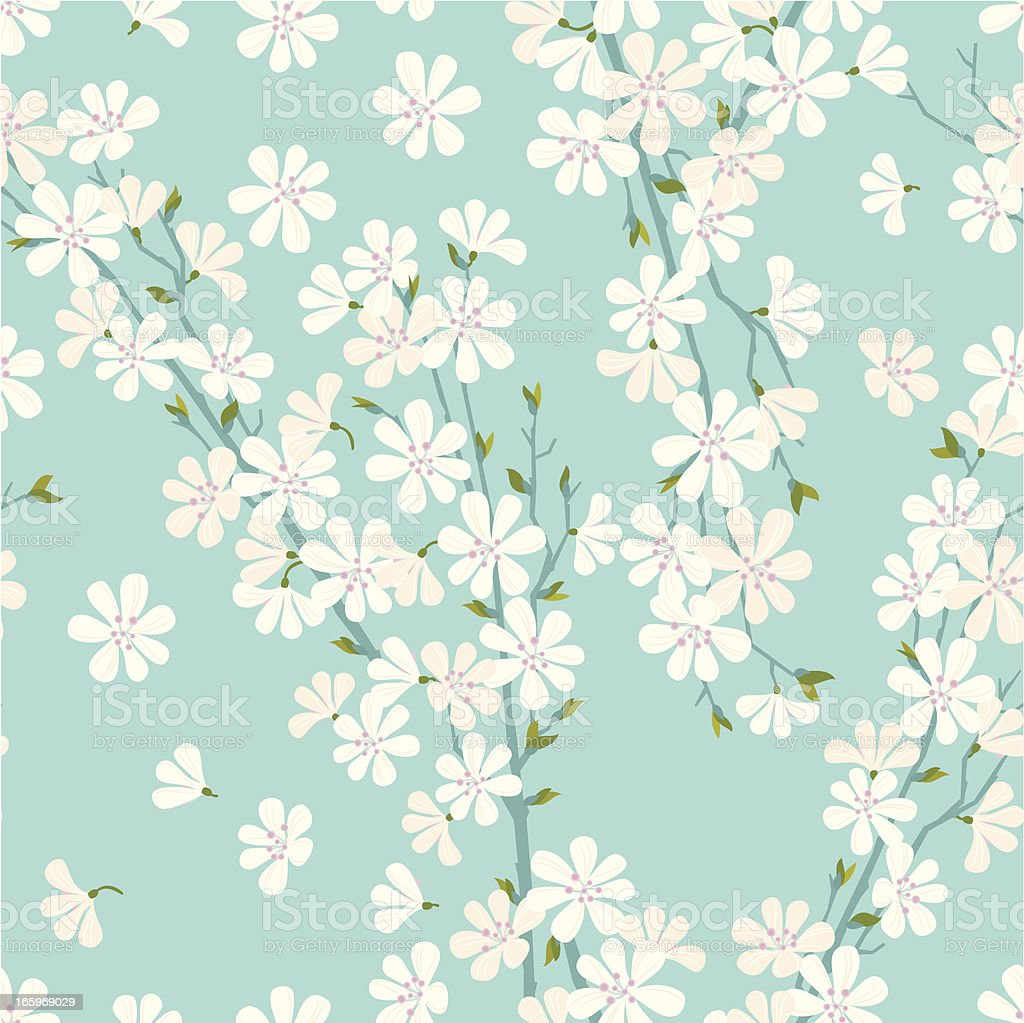 Cherry Blossom Pattern vector art illustration
