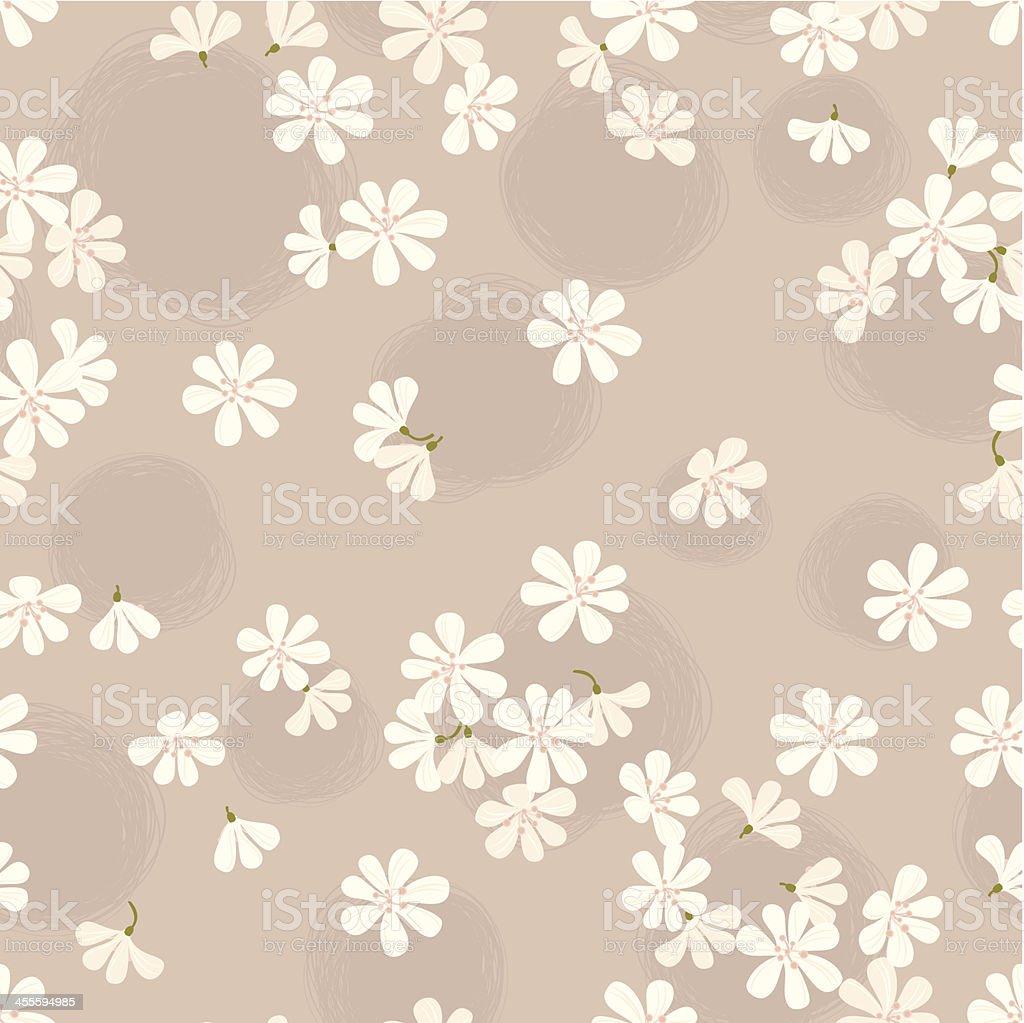 Cherry Blossom Pattern vector art illustration