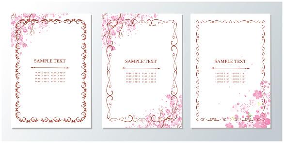 Cherry blossom petal frame set