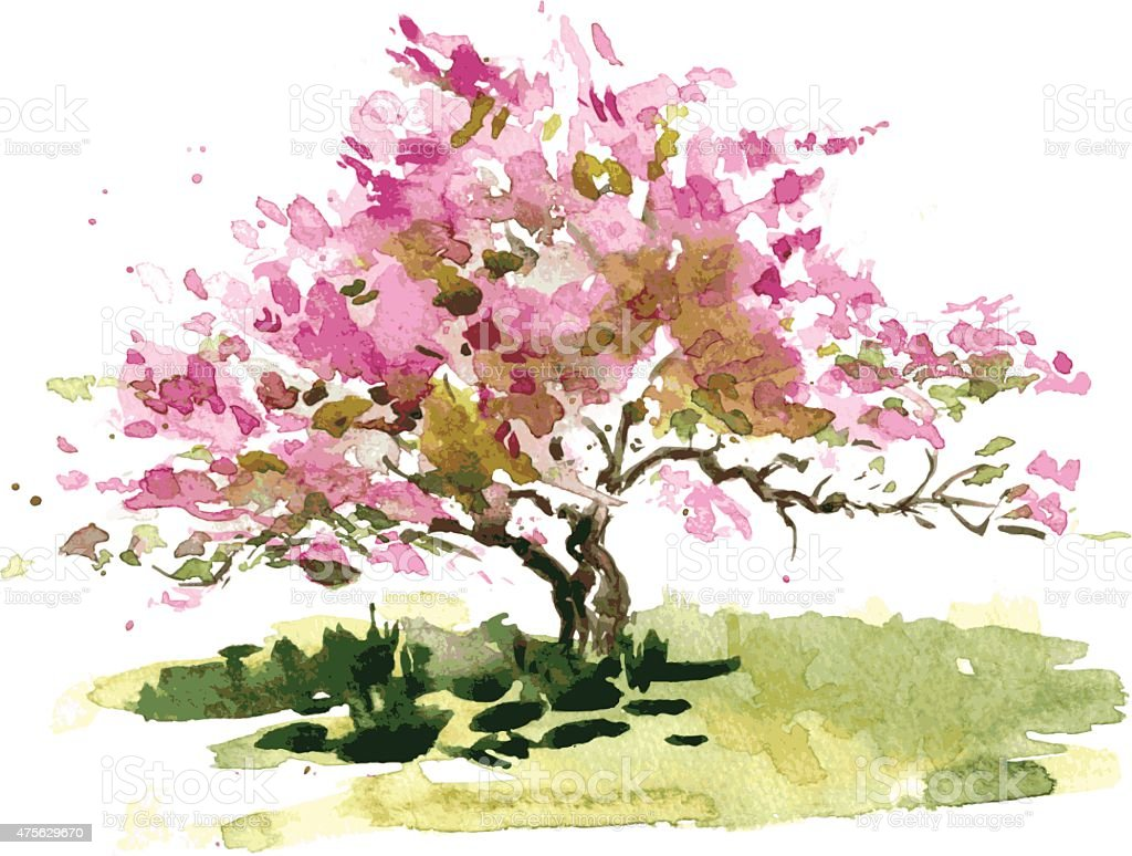 Cherry Blossom Tree Stock Illustration Download Image Now Istock Check out our tree paintings selection for the very best in unique or custom, handmade pieces from our wall hangings shops. https www istockphoto com vector cherry blossom tree gm475629670 65810535