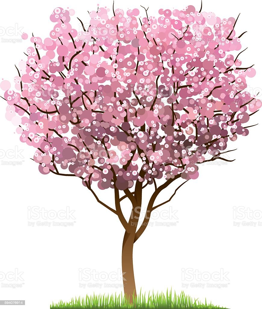 how to draw sakura tree photoshop