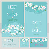 Cherry blossom Wedding Invitation cards