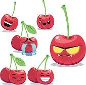 Cherry Cartoon Set B