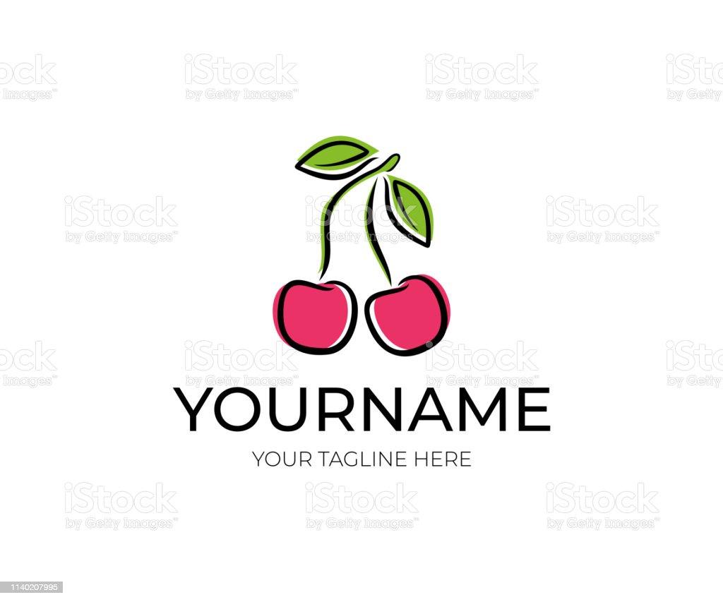 Cherry design. Fruit vector design. Fruitage illustration. Cherries...