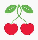 Sweet cherry fruit icon. Vector illustration