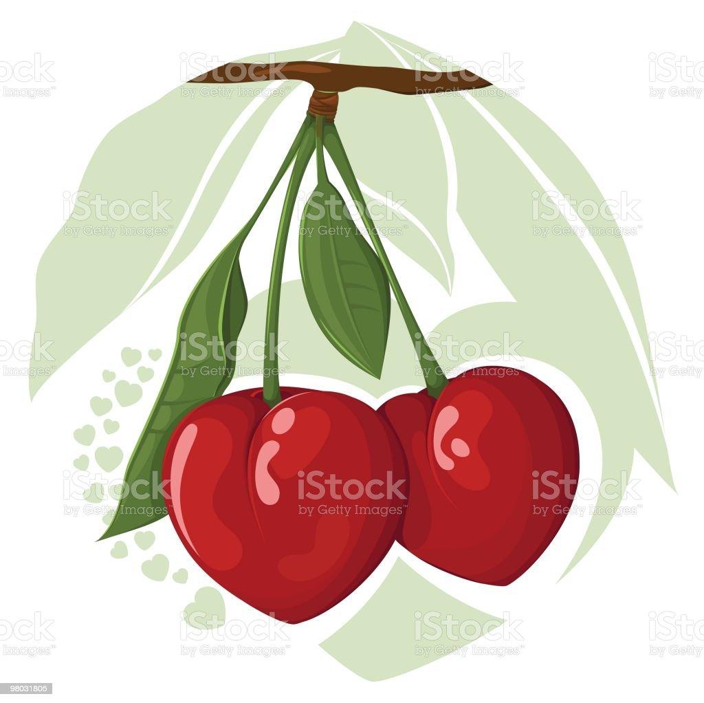 체리 하트 royalty-free 체리 하트 과일에 대한 스톡 벡터 아트 및 기타 이미지