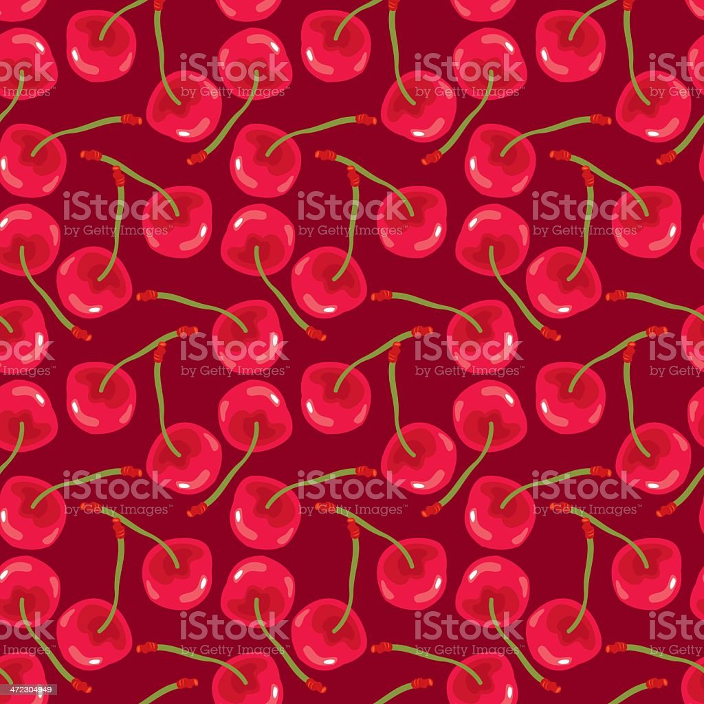 Cherry Pattern vector art illustration
