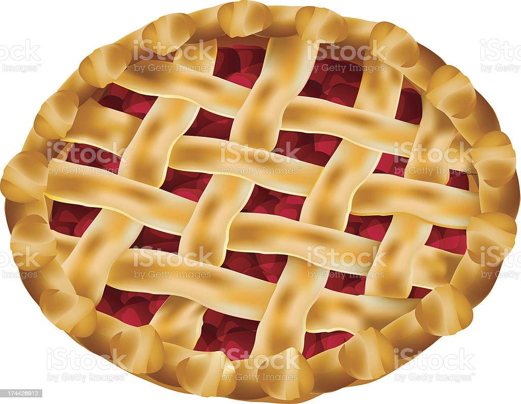 cherry pie vector art illustration