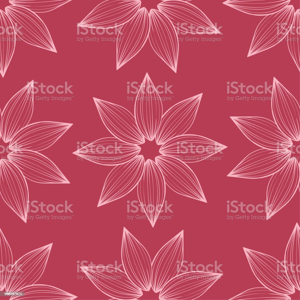 Cherry pink floral seamless pattern - arte vettoriale royalty-free di Arabesco - Motivo ornamentale