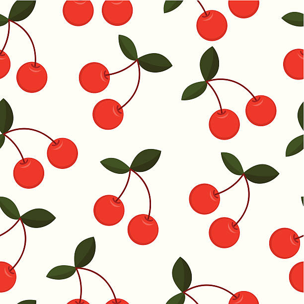 Cherry seamless background  cherry stock illustrations