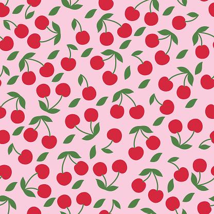 Cherry seamless pattern .