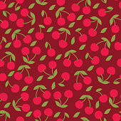 Vector cherry seamless pattern .