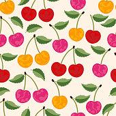 istock Cherry seamless pattern . 1303451884