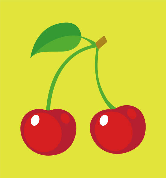 Cherry Two cherries cherry stock illustrations