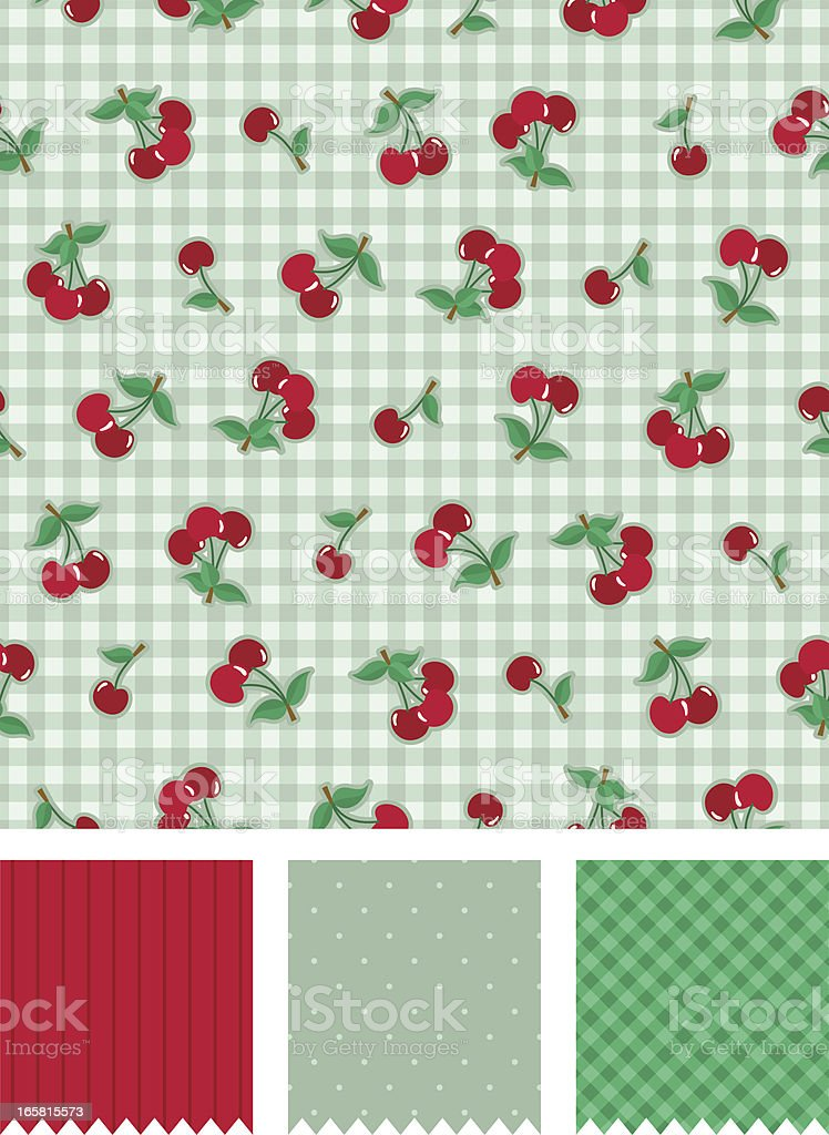cherry vintage pattern royalty-free stock vector art