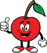 Cherry with Thumbs Up