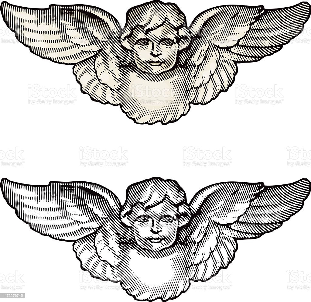 Cherub Angel Engraving