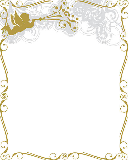 Royalty Free Angels Frame With Copy Space Clip Art, Vector Images ...
