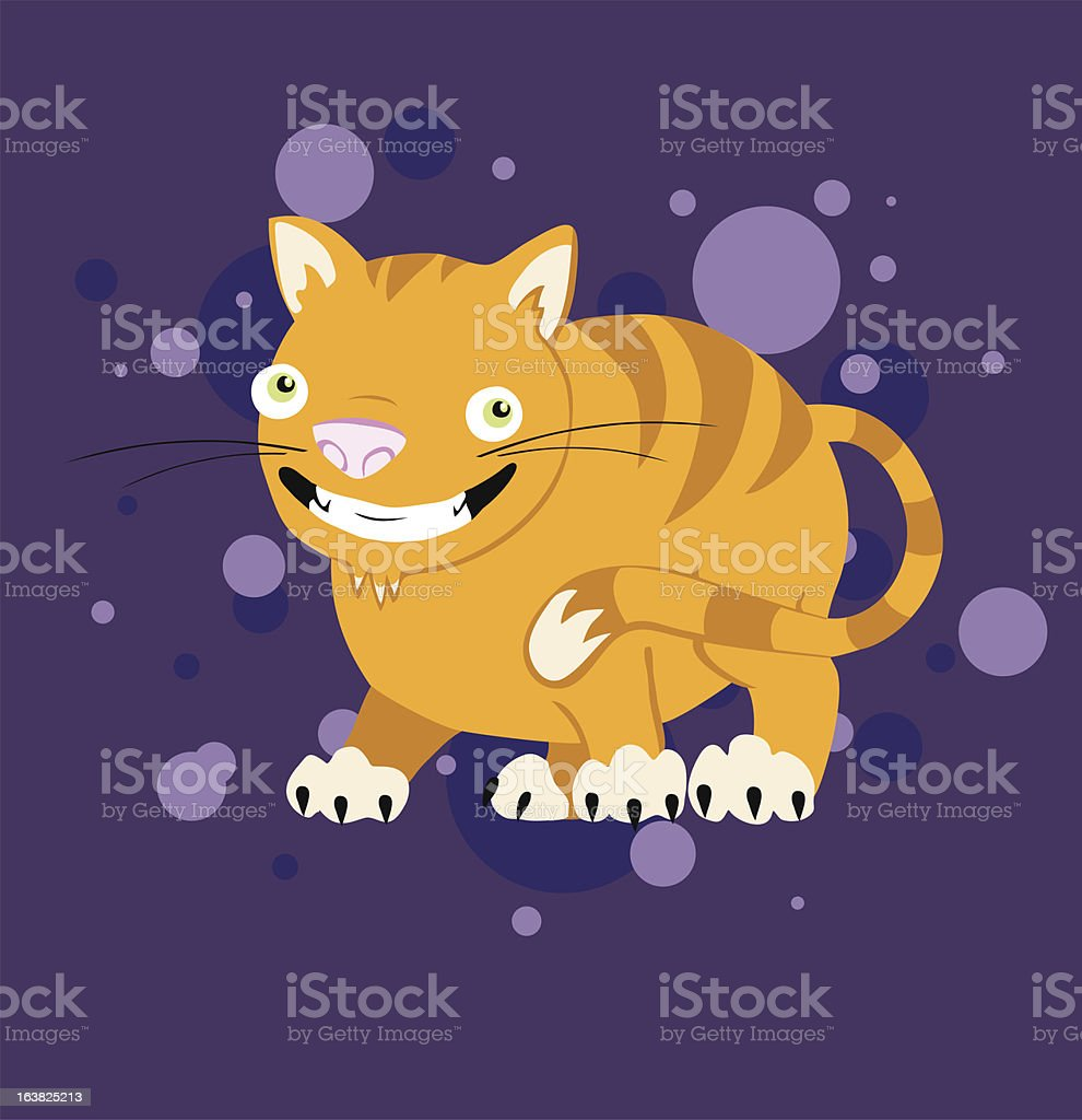 Chesire Cat royalty-free stock vector art