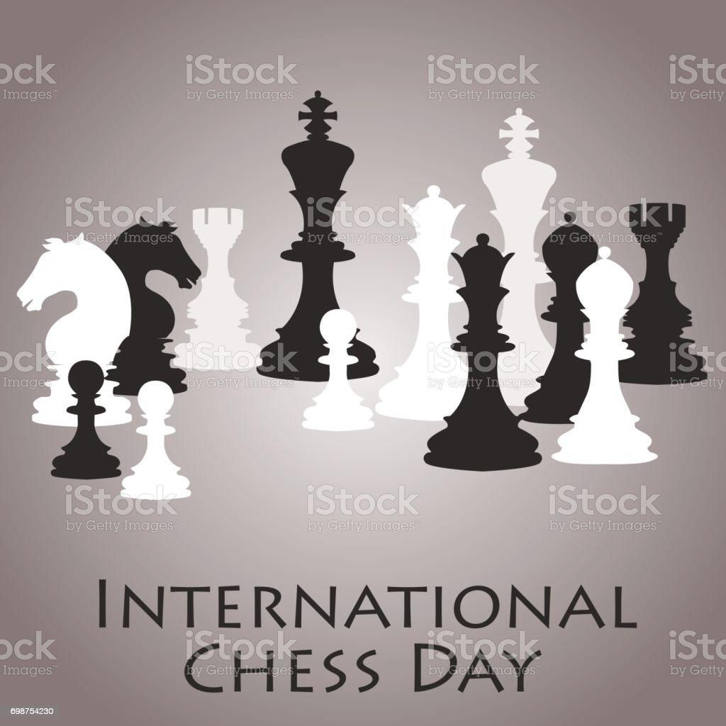 Chess Background International Chess Day Card July 20 ...