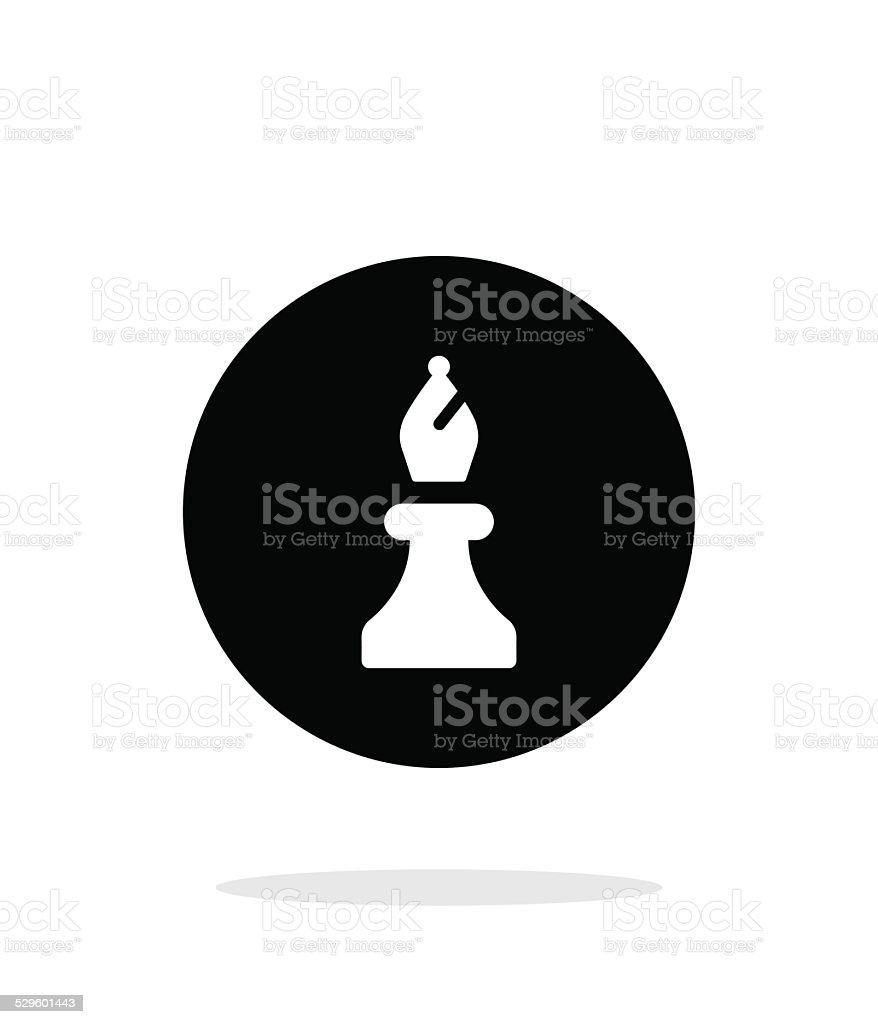 Chess Bishop simple icon on white background. vector art illustration