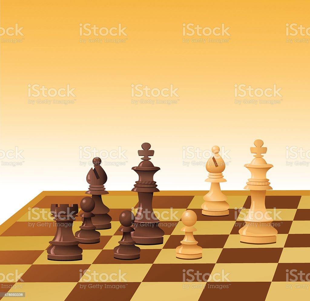 Xadrez rei negra em xeque-mate download vetor e ilustração royalty-free