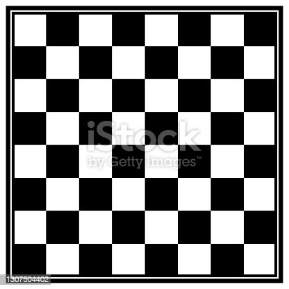 istock Chess board game vector illustration. chess symbol. 1307504402