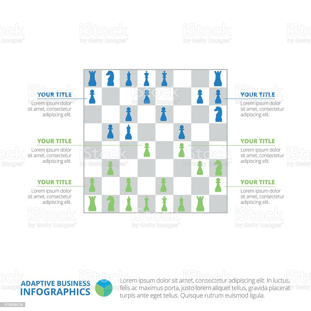 chess board infographic chart template stock vector art more