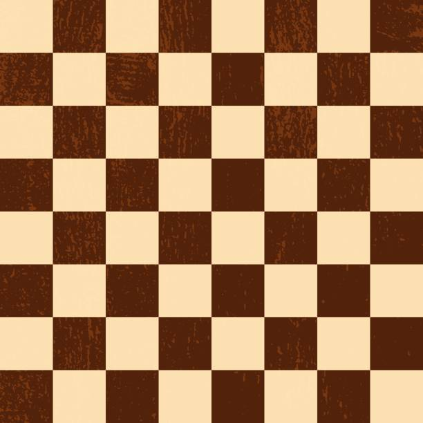 Chess board or checkerboard square seamless pattern. Vector EPS 10 vector art illustration