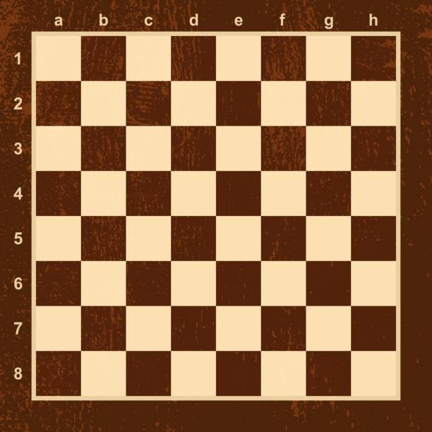 Chess board or chessboard, table for game vector art illustration