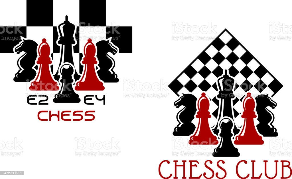 Chess Club Sport Emblems Or Symbols Stock Vector Art More Images