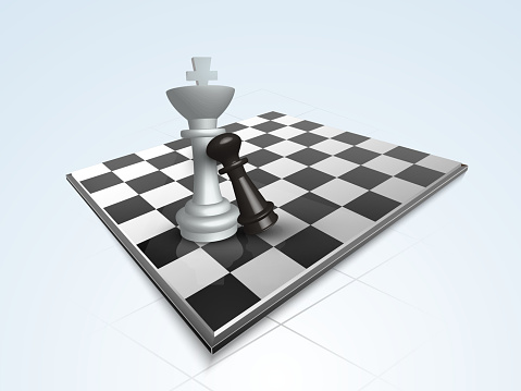 Chess concept with its board and figures.
