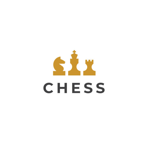 Chess emblem. Vector illustration Chess emblem. Vector illustration chess knight silhouette stock illustrations