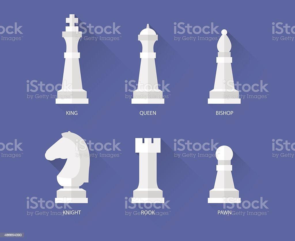 Chess flat icons vector art illustration