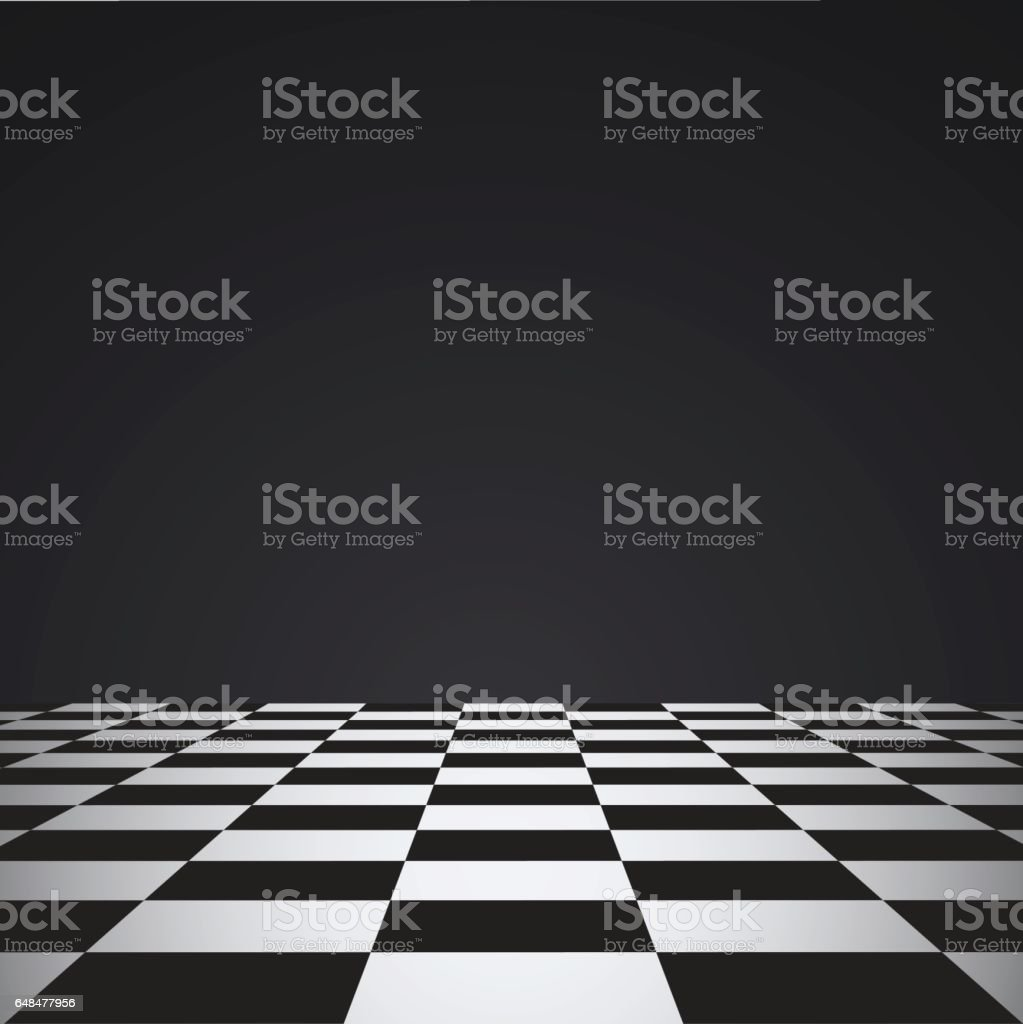 Chess floor vector art illustration