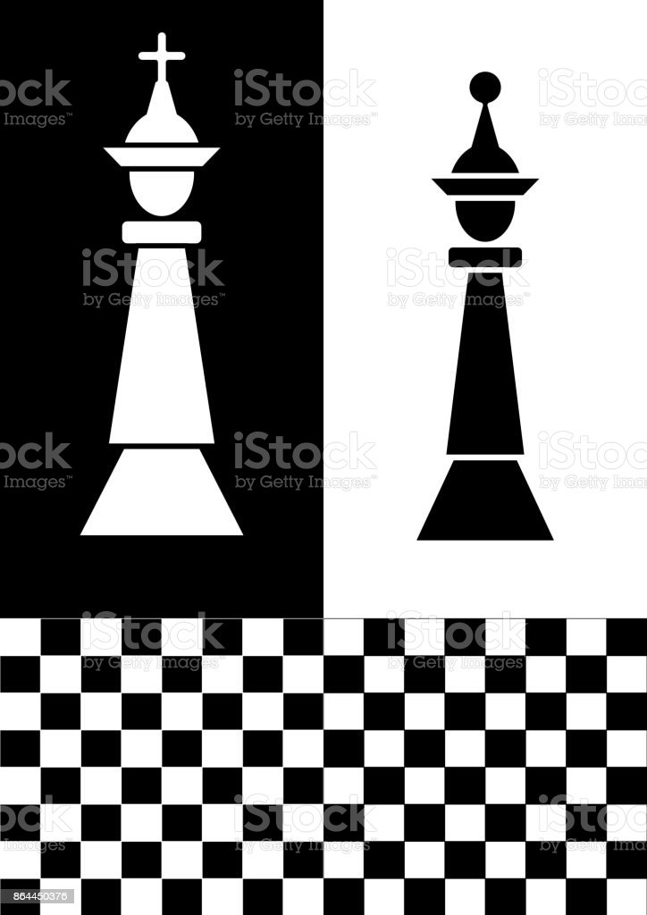Chess Flyer In Black And White Design White Chess King On Black ...