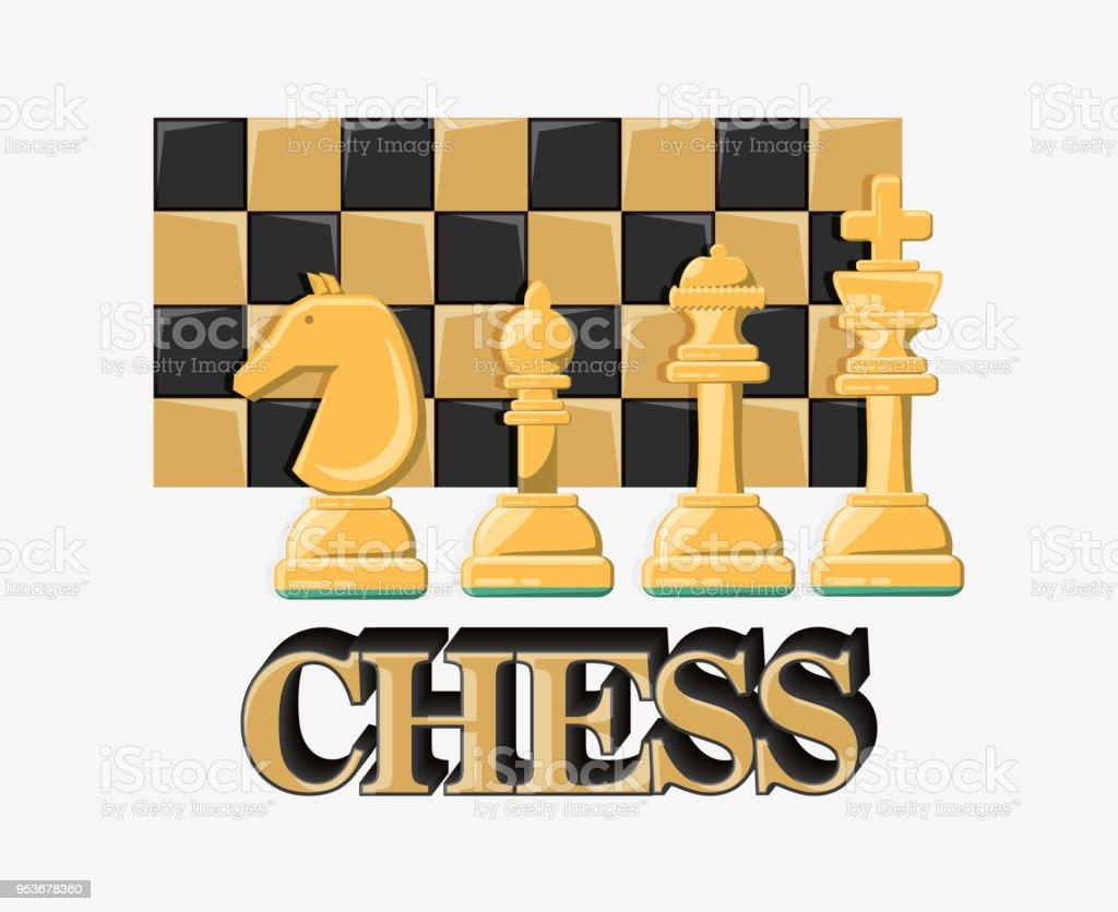 Chess game design vector art illustration