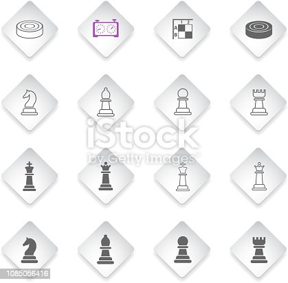 chess flat rhombus web icons for user interface design