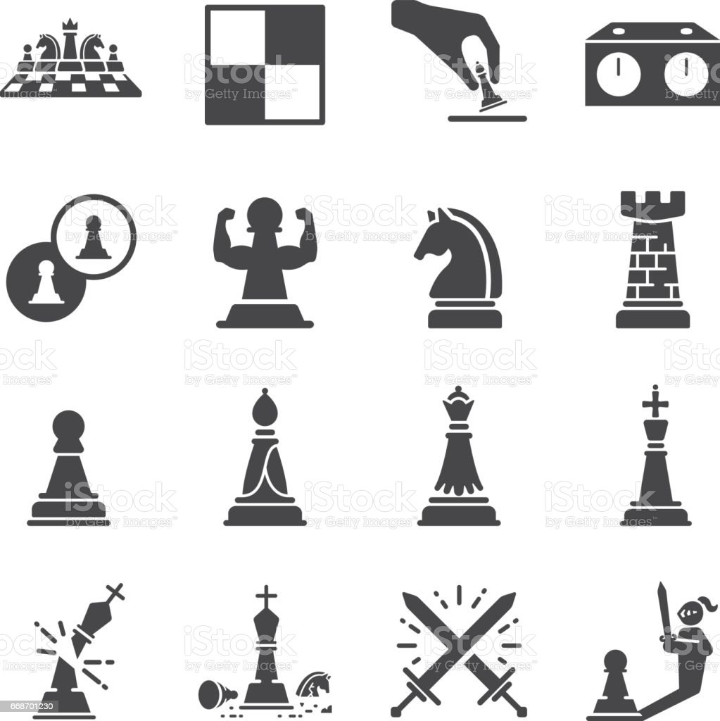 Chess Icon Set Stock Vector Art & More Images of Bishop ...