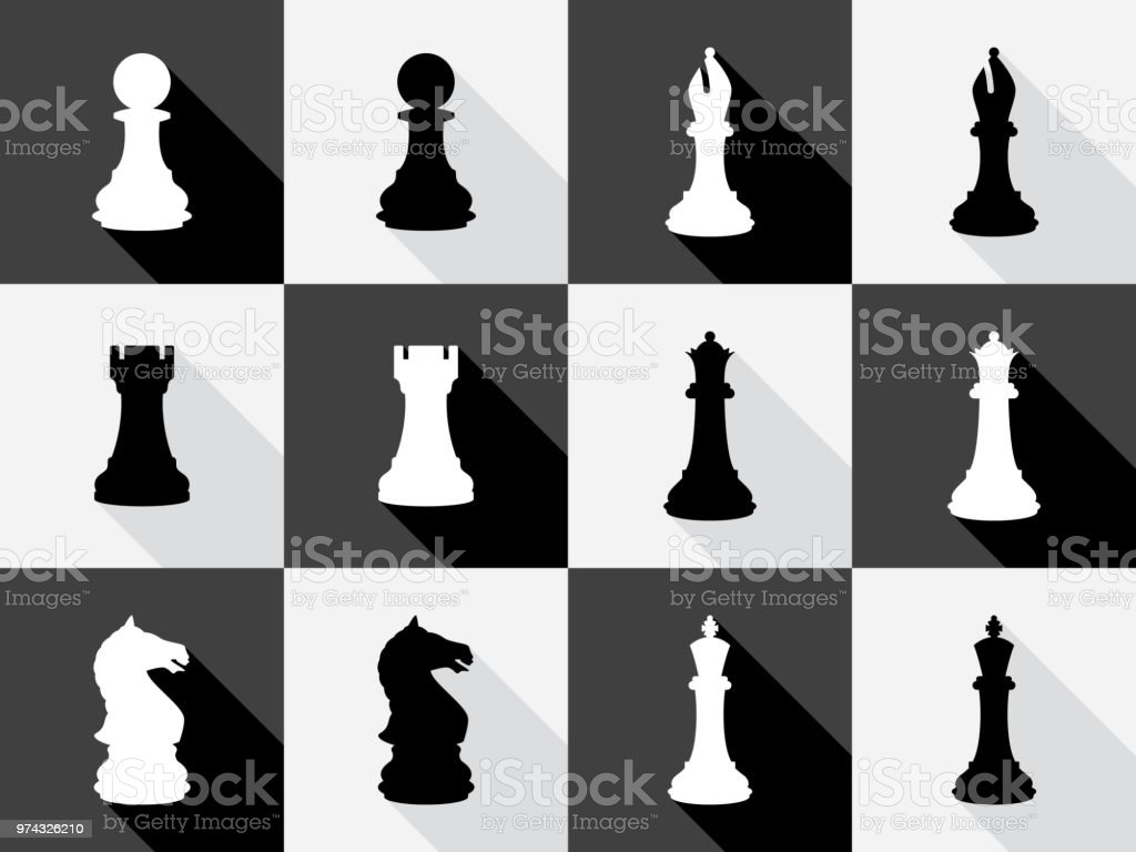 Chess Icon Set Stock Vector Art & More Images of Arts ...