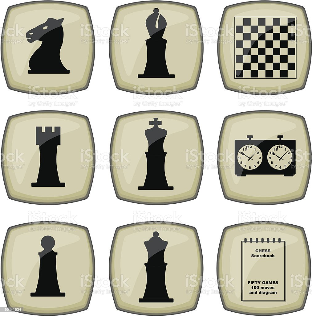 Chess Icons set - Royalty-free Bishop - Chess Piece stock vector