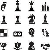 Chess icons set Vector illustration.