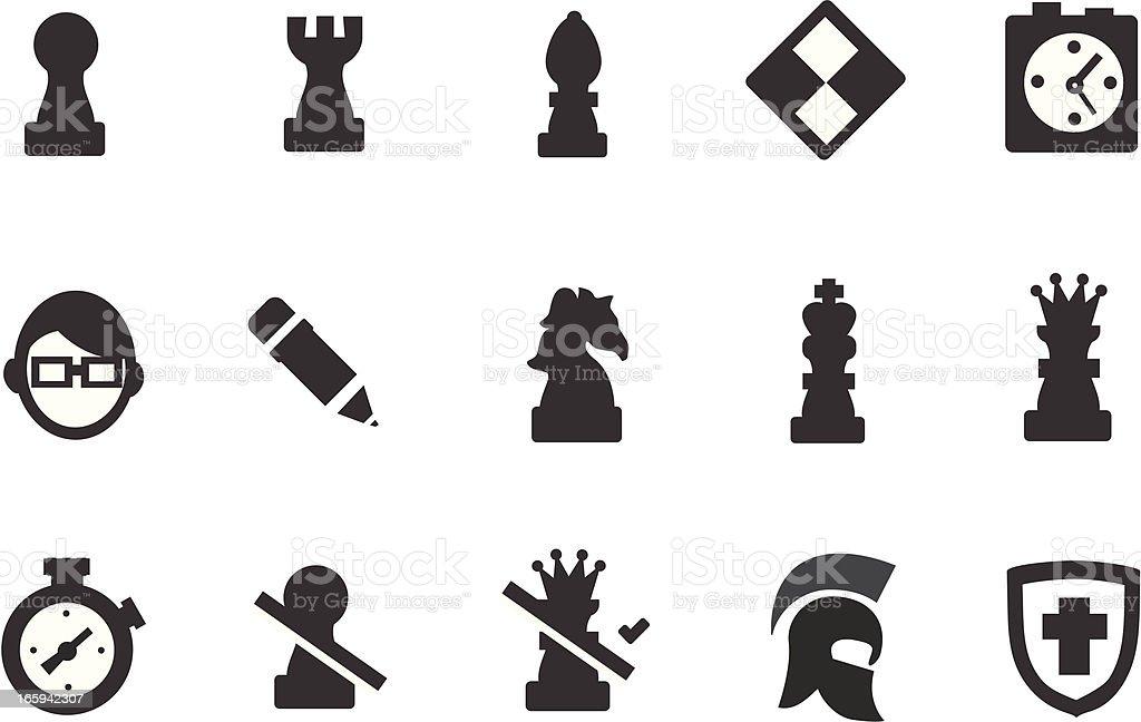 Chess Icons vector art illustration