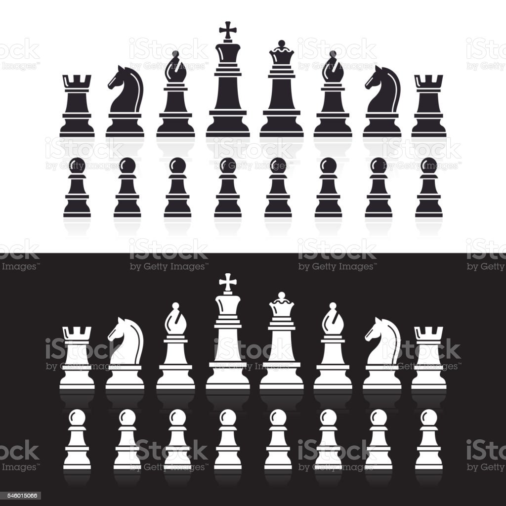 Chess icons. vector art illustration