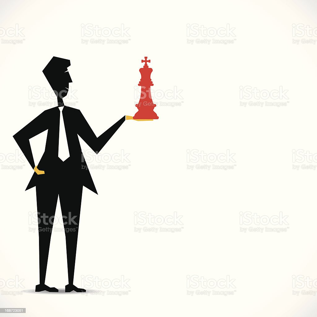 chess king royalty-free stock vector art