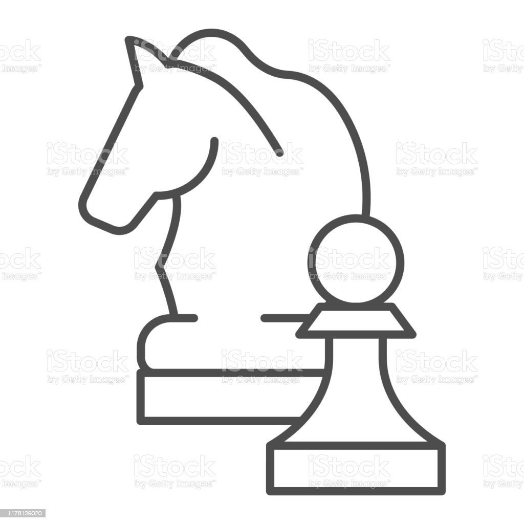 Chess Knight Thin Line Icon Chess Horse Vector Illustration Isolated On White Equine Outline Style Design Designed For Web And App Eps 10 Stock Illustration Download Image Now Istock