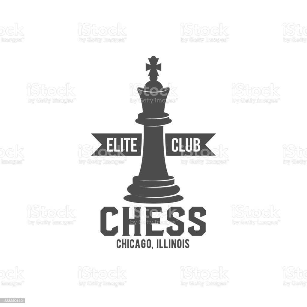 chess label, badge and design element vector art illustration