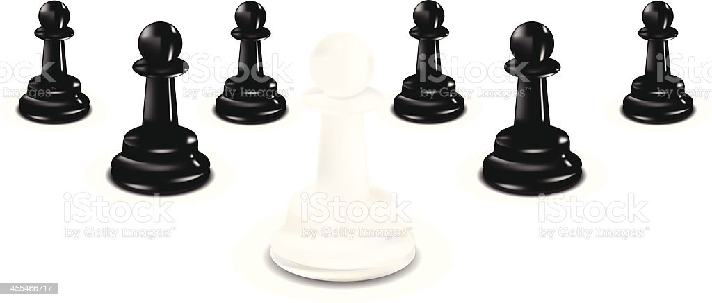 Chess Pawns | Leadership Concept vector art illustration