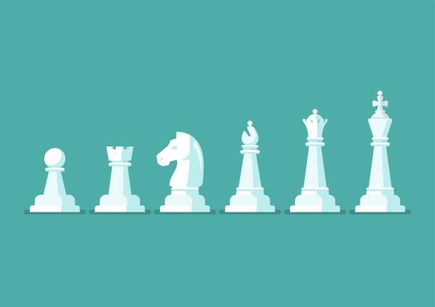 bildbanksillustrationer, clip art samt tecknat material och ikoner med schackspel bit vektor ikoner - häst tävling