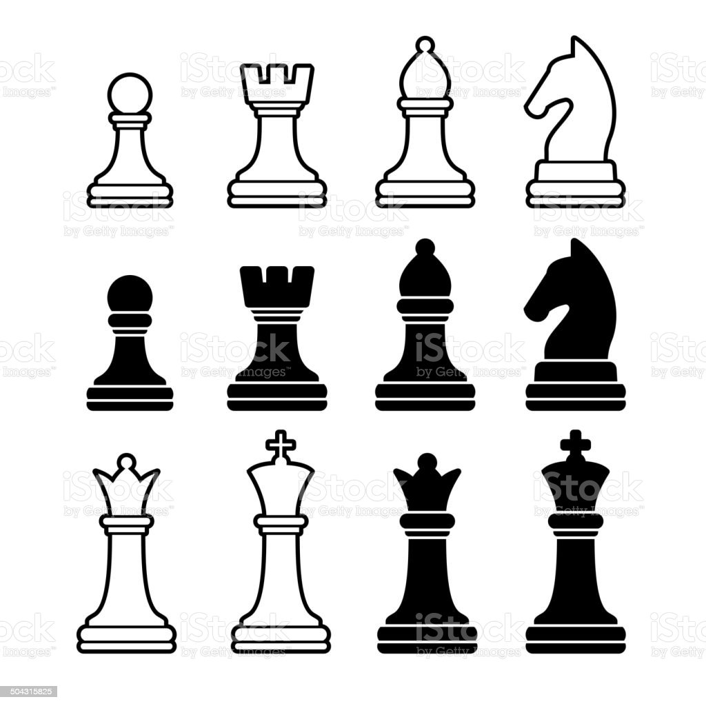 royalty free chess piece clip art vector images